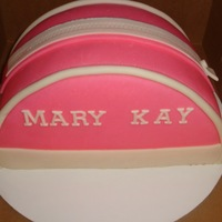 Mary Kay Make-Up Bag Vanilla cake covered in MMF.