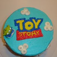 Toy Story Smash Cake 6 inch marble smash cake. All buttercream; character was purchased on eBay. Thanks to all the Toy Story cakes on here for this cake and my...