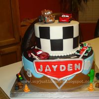 Cars Cake   Beautiful cake made with fondant
