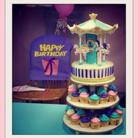 Carousel Cake And Cuppies! *