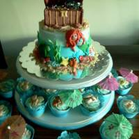 """under The Sea"" Birthday Cake And Cuppies *"