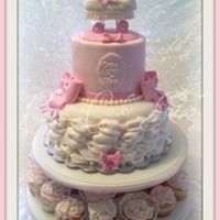 """once Upon A Time"" Baby Shower Cake And Cuppies"