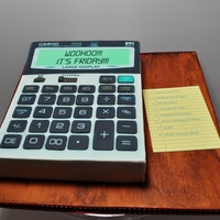 Calculator Cake My sister is an Accountant and they do this thing at work where they take turns in bringing in cake on a Friday (cake Friday I guess)....