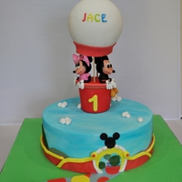 Mickey & Minnie Mouse Themed Birthday Cake