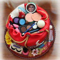 Cosmetic Bag Cake Made for an Esthetician's 50th birthday!