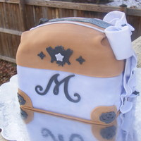 Cake Purse I did this cake for my daughters 8th birthday. She begged me to do a cake purse and I had no clue on how to do it so I just winged it. This...