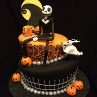 Nightmare Before Christmas Themed Birthday Cake This Cake Design Was Recreated From A Photo That Was Requested I Made A Few Changes But T Nightmare Before Christmas themed birthday cake! This cake design was recreated from a photo that was requested. I made a few changes, but...