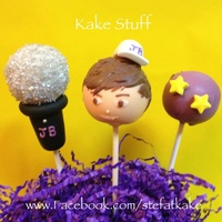 Justin Bieber Themed Pops For A Little Girls Birthday Justin Bieber themed pops for a little girls birthday