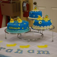Rubber Duckie Shower This was only my second fondant cake to do. It was a lemon cake with lemon filling and lemon buttercream topped with fondant. It was a huge...