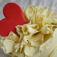 White Chocolate Ruffle Cake for my husband :)