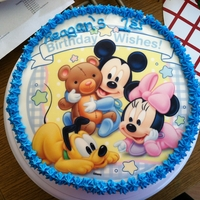 1St Birthday 1st birthday cake. Edible image