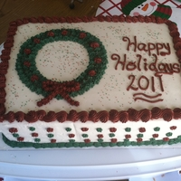 Holiday Cake   Winter holiday party cake