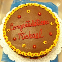 Graduation Cake-Salisbury University Colors This was a cake for someone graduating from Salisbury Univ.
