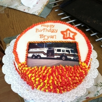 Birthday Cake Fire Dept Theme This cake was for an 11 year old in the fire cadet program