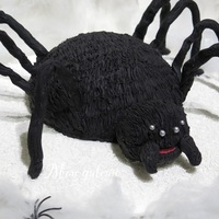 Furry Spider Say hello to my furry friend, it is all in fondant