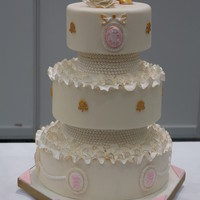 Cameo Cake My first wedding cake <3