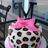 "Leopard ""m"" First Bday Cake"