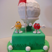 M&m's And Golf  This was a surprise father's day cake for my Dad. He likes to golf and he LOVES M&M's so I combined the two to make this...