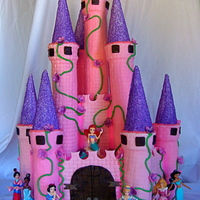Princess Castle Cake I made this for a childhood friend's daughter. She was turning 5 and really wanted a pink princess castle. This is my second castle...