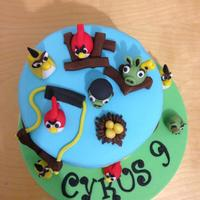 My Son's Angry Birds Birthday Cake