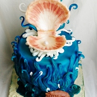 Under The Sea With Fondant Shell And Pearl   under the sea... with fondant shell and pearl