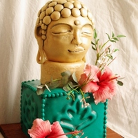 Buddha Cake With Gumpaste Flowers And Leaves   Buddha cake with gumpaste flowers and leaves