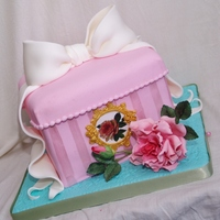 Giftbox Cake With Gumpaste Flowers Made This Cake For Someone Who Is In Her Last Stage Of Serious Illness She Wanted To Taste A Cake Fo  giftbox cake with gumpaste flowers, made this cake for someone who is in her last stage of serious illness.... she wanted to taste a cake...