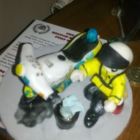 Cake Topper Uk Motorbike Police cake topper for a friend who is a bike police officer who is also a bit of a clean freak forever washing his bike