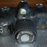 Camera Cake carved sponge camera cake for nephews 13th b day
