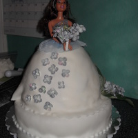 Bride Princess My first try with fondant for my step daughter's wedding.