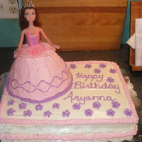 Princess Putting the wonder mold cake on top of another cake enables use of a full size barbi. They are so much prettier and then the child can have...