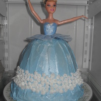 "Cinderella Princess Cake Wonder mold on top of a 9"" round"