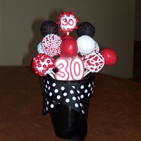 "Over The Hill Bouquet  I sent this to my son-in-law, who lived in another state. Since this was being shipped, I kept the cake pop ""flowers"" close to..."