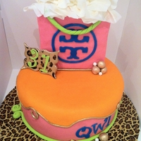 Tory Burch Tory Burch cake. Client picked the color scheme and I thought she was nuts. But when it came together, it was pretty hot!