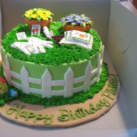 Gardening Lovers Cake Homemade chocolate cake, covered with my special Buttercream will all MMF details. TFL
