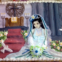 The Bride 1st place competition at our local show, everything on this cake is icing and completely etible