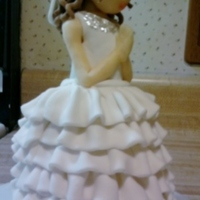 Cake Topper Figure Made Of Choc Decorated With Mmf Cake topper.. figure made of choc decorated with mmf
