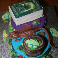 Favorite Things Twin's Birthday Cake  This is a gluten, dairy and soy -free cake. These are the twins' favorite things: one like fairies, books and the color purple; the...