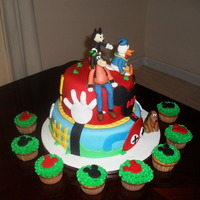 Mickey Mouse Club House Cake mickey mouse club house cake ,all figures are gumpaste
