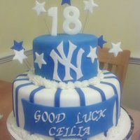 New York Yankees Birthday/going Away Cake