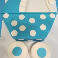 Carriage Shower Cake This was made to match an invite.