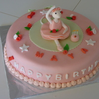 Angelina Ballerina Cake WASC cake with whipped cream and strawberry jam filling.TFL