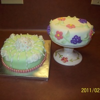 My First Two Cakes These are the first two cakes I made all on my own.