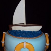 Sailboat Cake Just playing around with extra cake... wishing it were warmer weather...