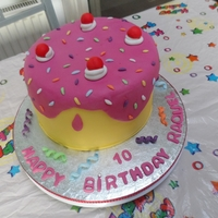 Colourful 10Th Birthday Cake This was made for my sister's birthday. Madeira cake with strawberry filling. TFL