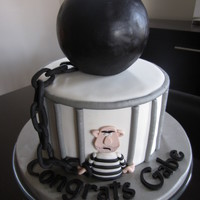 Ball And Chain Cake  This was a chocolate cake with oreo swiss meringue buttercream. It was for a guy who graduated and is now a Corrections Officer. I was sent...