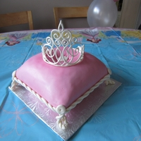 Pink Pillow Cake   This was my first pillow cake and first gumpaste tiara. I made it for my daughter's 3rd birthday.