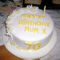 Birthday Cake 70Th   this is my mums cake i made for her 70th it is her favorite colour