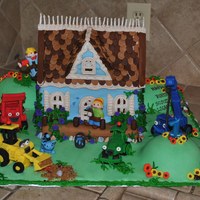 Bob The Builder Cake This cake was made by me for my youngest son's first birthday!!! My boys LOVE tractors and Bob the Builder, along with just about...