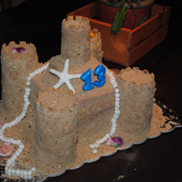 Sandcastle Cake This is a cake I did for a friend's daughter. It is 99% edible, no support or dowel rods or anything (but just one long strand of...